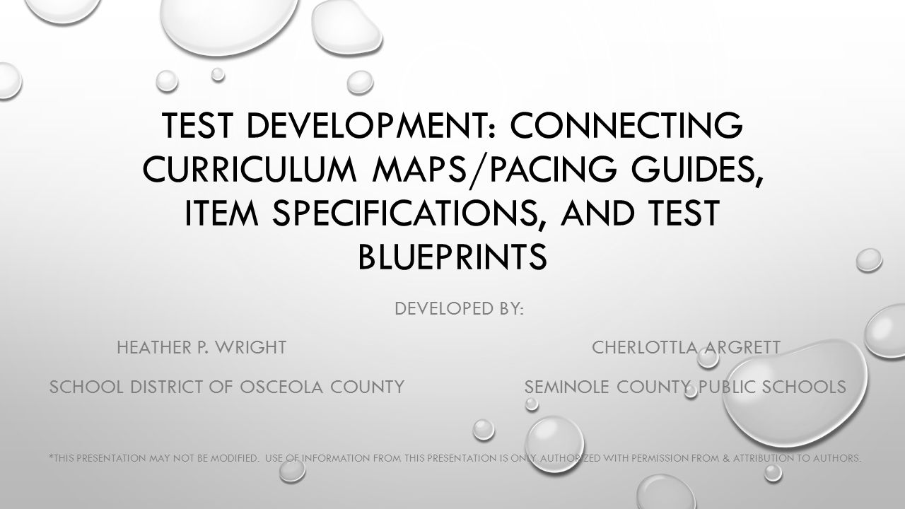 Osceola County District Pacing Guide For
