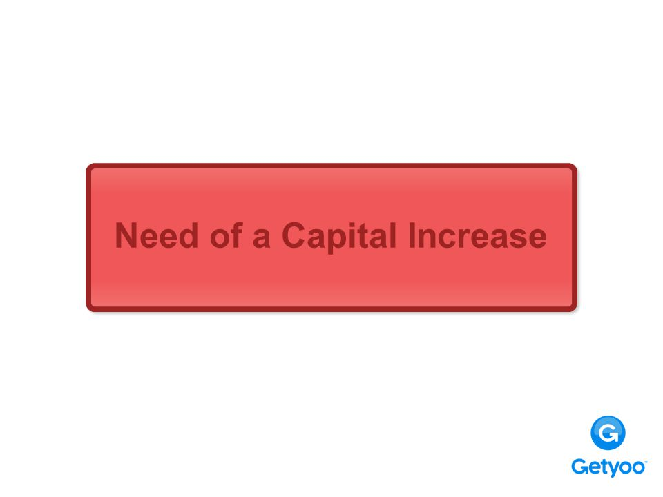 Need of a Capital Increase