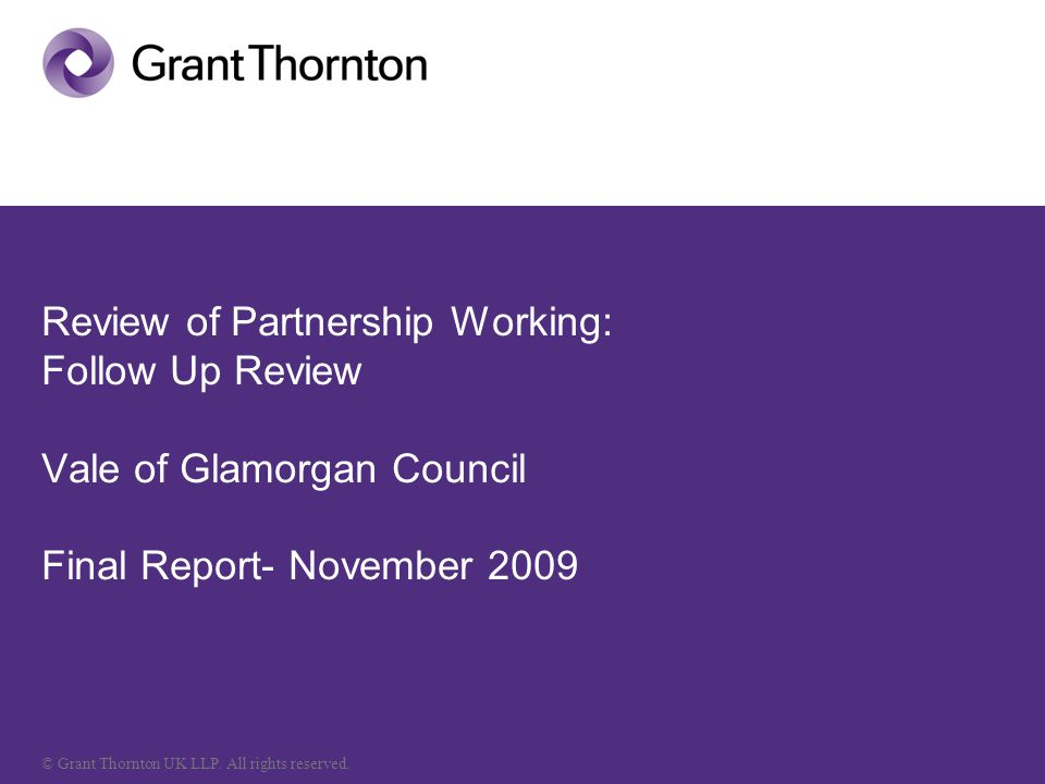 © Grant Thornton UK LLP. All rights reserved.