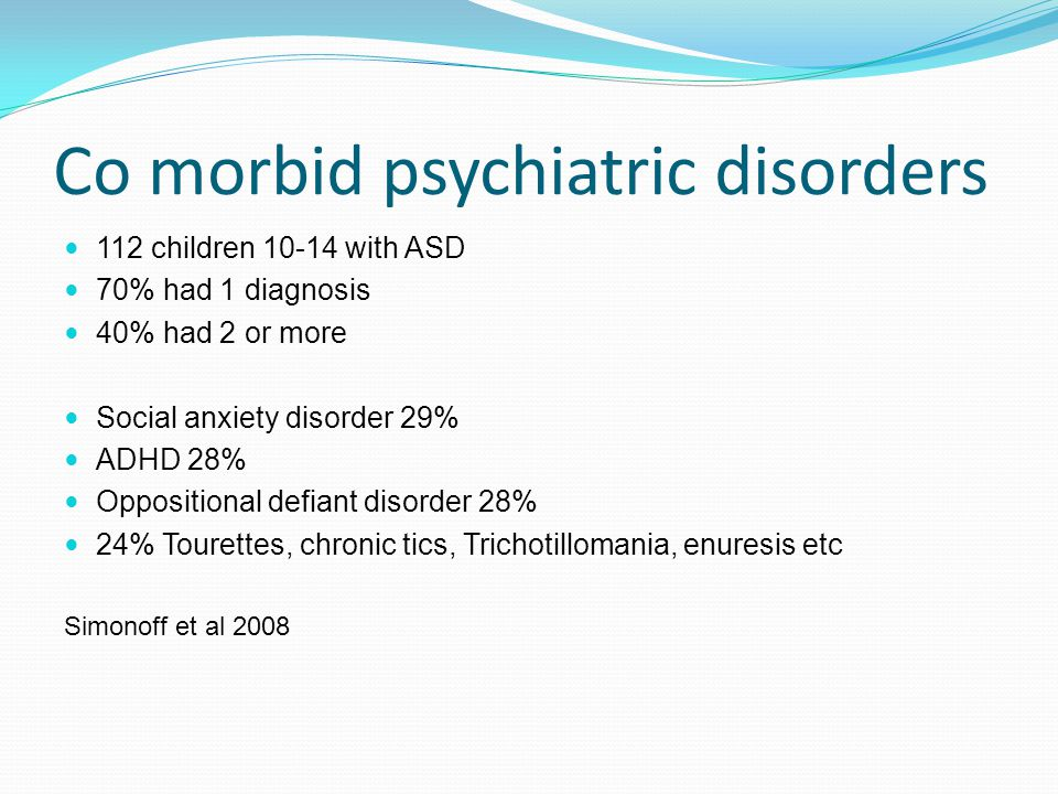 Rachel Brooks  What we mean by co-morbidity What diagnoses