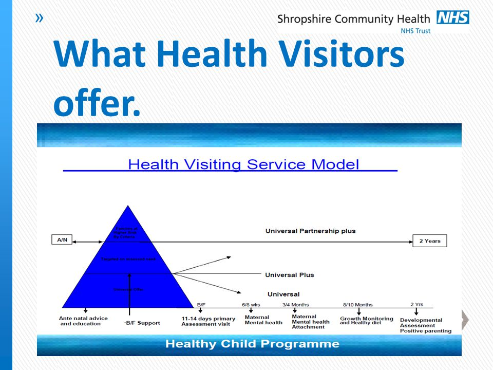 » What Health Visitors offer.