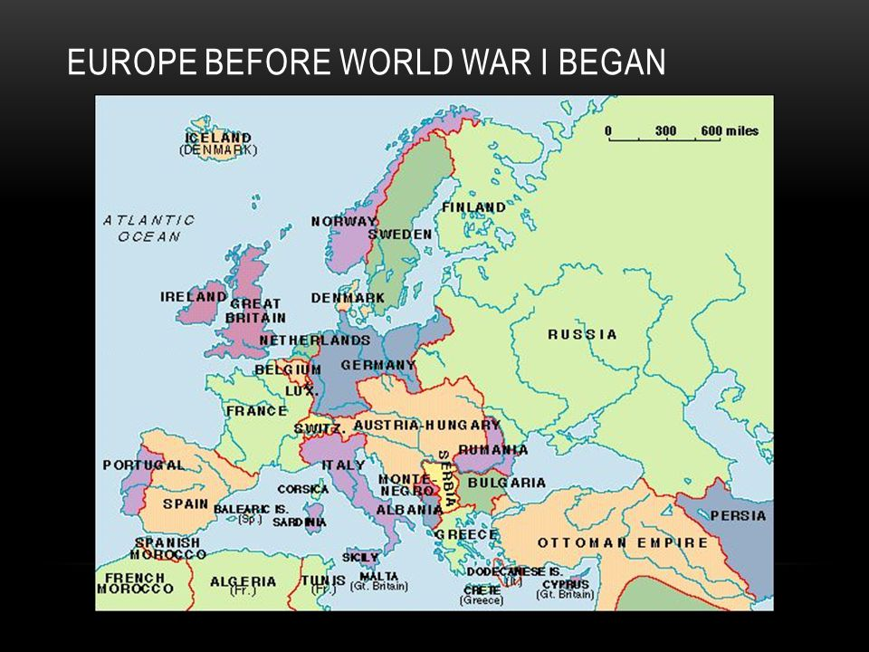 EUROPE BEFORE WORLD WAR I BEGAN
