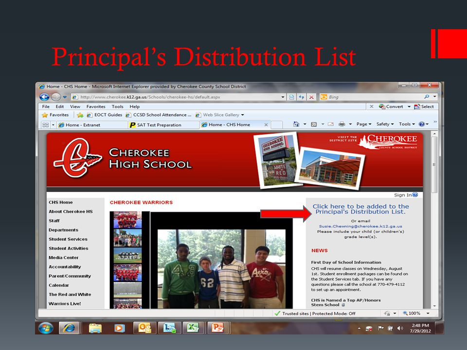 Principal's Distribution List