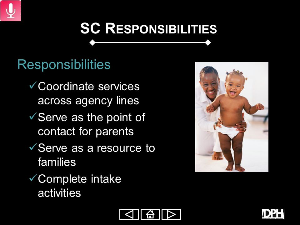 S ERVICE C OORDINATOR (SC) Service Coordinators: Rights Procedural Safeguards Services