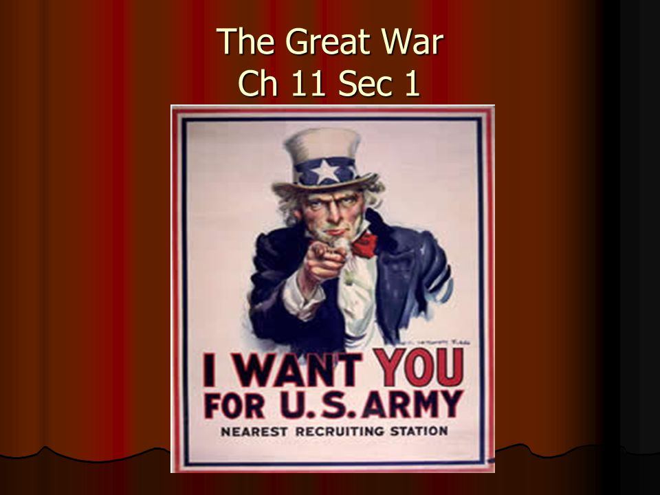 The Great War Ch 11 Sec 1 What Were The Long Term Causes Of Wwi