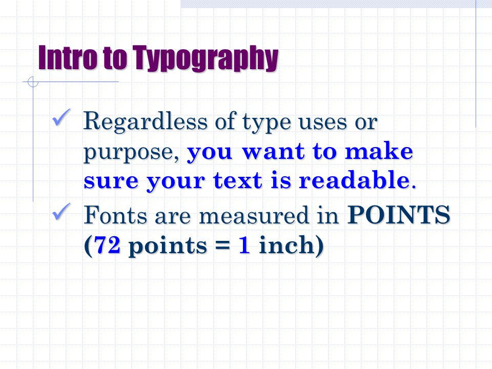 Aa Introduction to Visual Communications PART 1: Typography