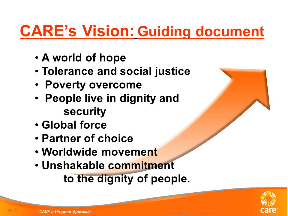 2 CARE's Program Approach © 2010 CARE USA. All rights reserved.