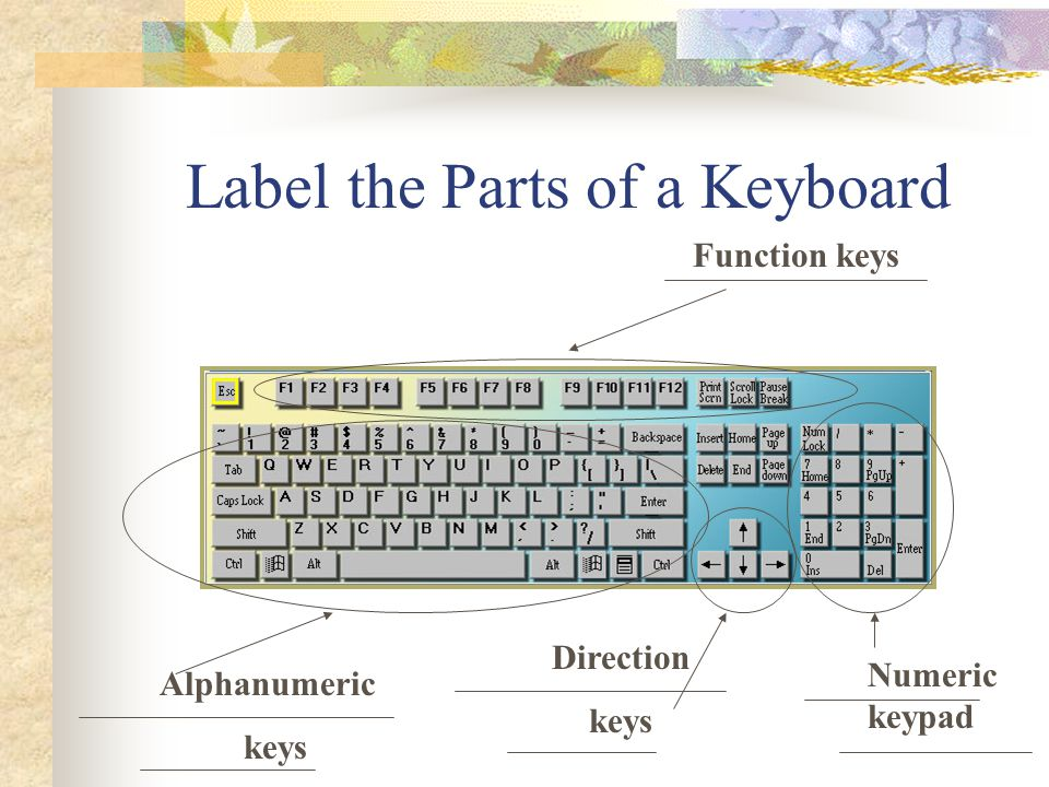01 00 Use the touch method in operating the keyboard and