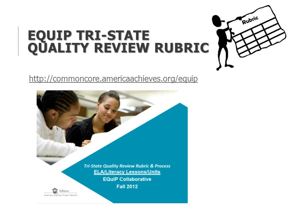 EQUIP TRI-STATE QUALITY REVIEW RUBRIC