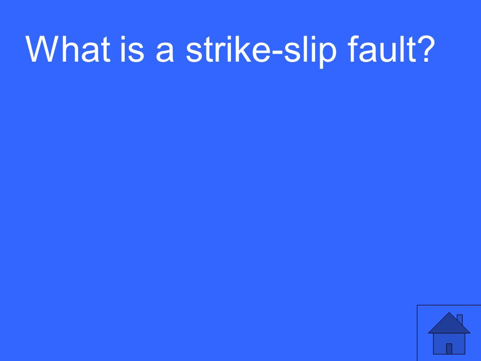 What is a strike-slip fault