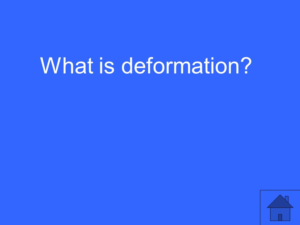 What is deformation