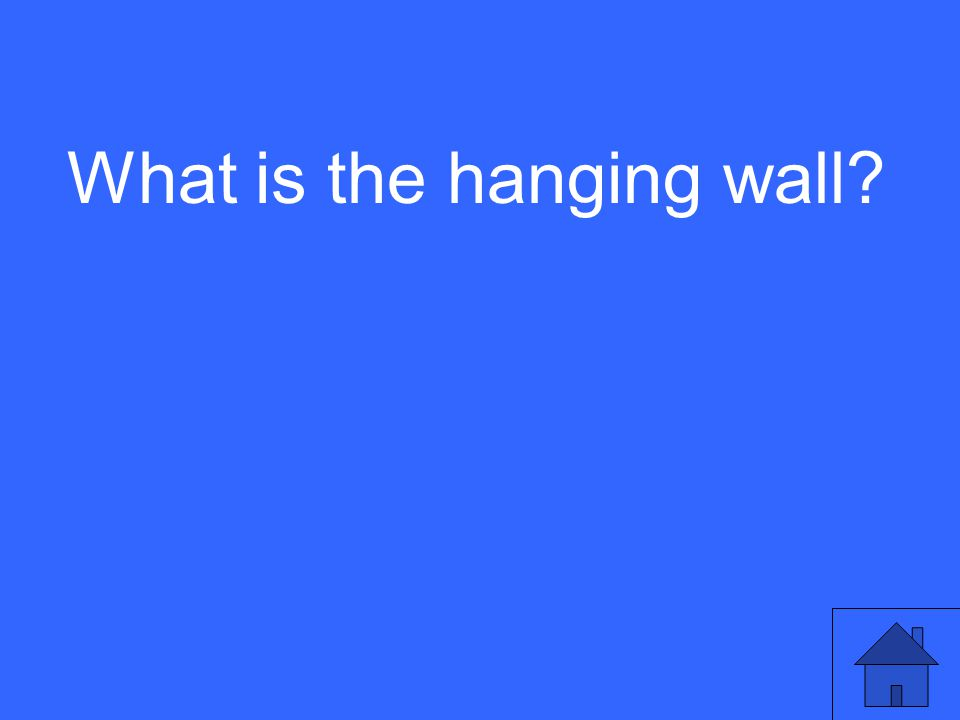 What is the hanging wall