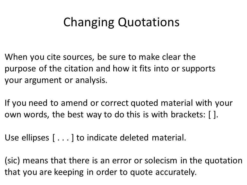 The Benefits Of Learning English Essay Changing Quotations When You Cite Sources Be Sure To Make Clear The  Purpose Of The Computer Science Essay Topics also Essay On My School In English Citing Sources In The Synthesis Essay Changing Quotations When You  Search Essays In English