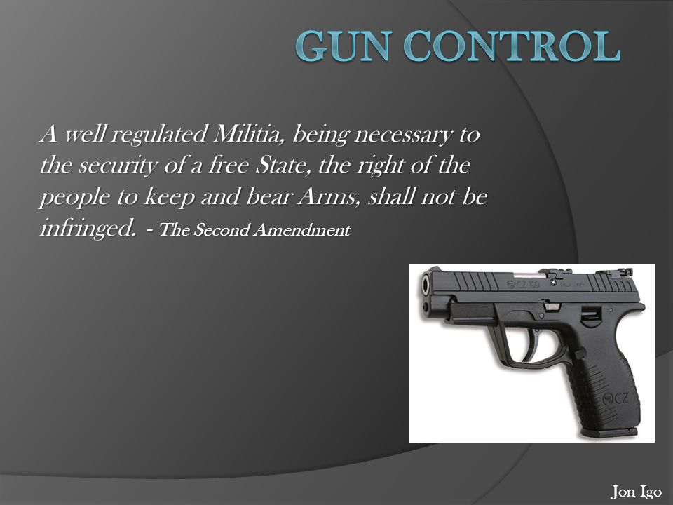 what does the second amendment say