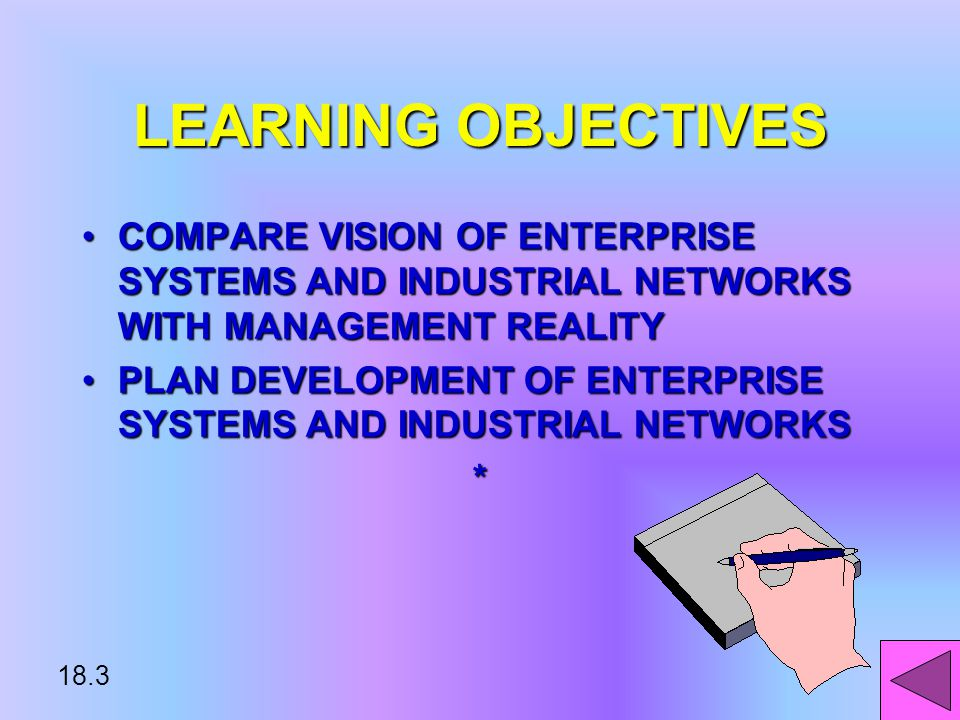18.2 LEARNING OBJECTIVES DESCRIBE FEATURES OF ENTERPRISE COMPUTING & INDUSTRIAL NETWORKSDESCRIBE FEATURES OF ENTERPRISE COMPUTING & INDUSTRIAL NETWORKS EXPLAIN BUSINESS & TECHNOLOGY DRIVERSEXPLAIN BUSINESS & TECHNOLOGY DRIVERS IDENTIFY ELEMENTS & DECISIONS IN BUILDING INFORMATION TECHNOLOGY INFRASTRUCTUREIDENTIFY ELEMENTS & DECISIONS IN BUILDING INFORMATION TECHNOLOGY INFRASTRUCTURE*