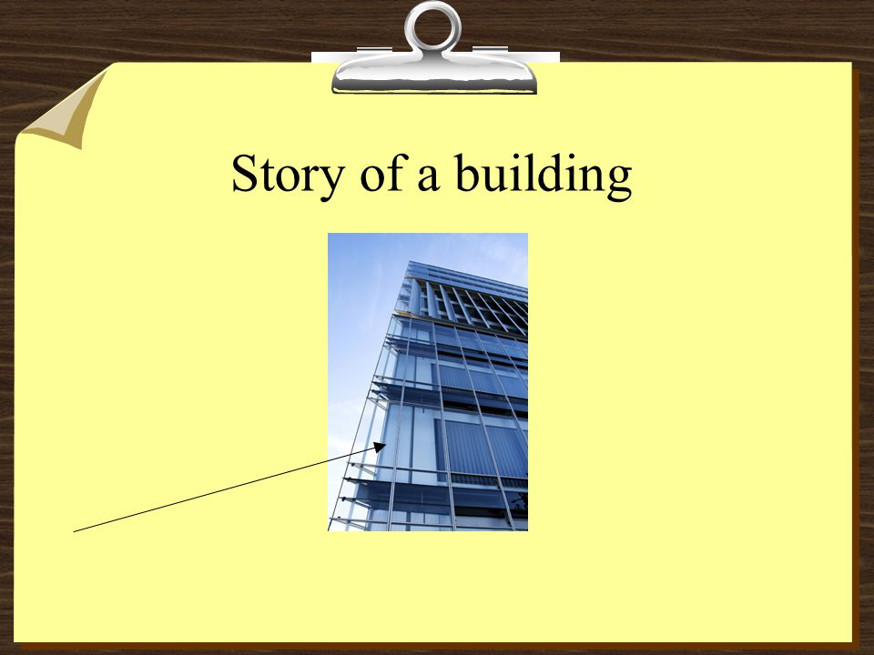 Story of a building