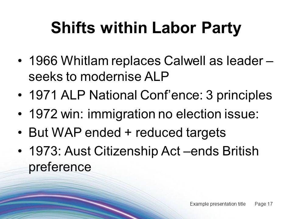 Presentation Subtitle White Australia S Demise And Post