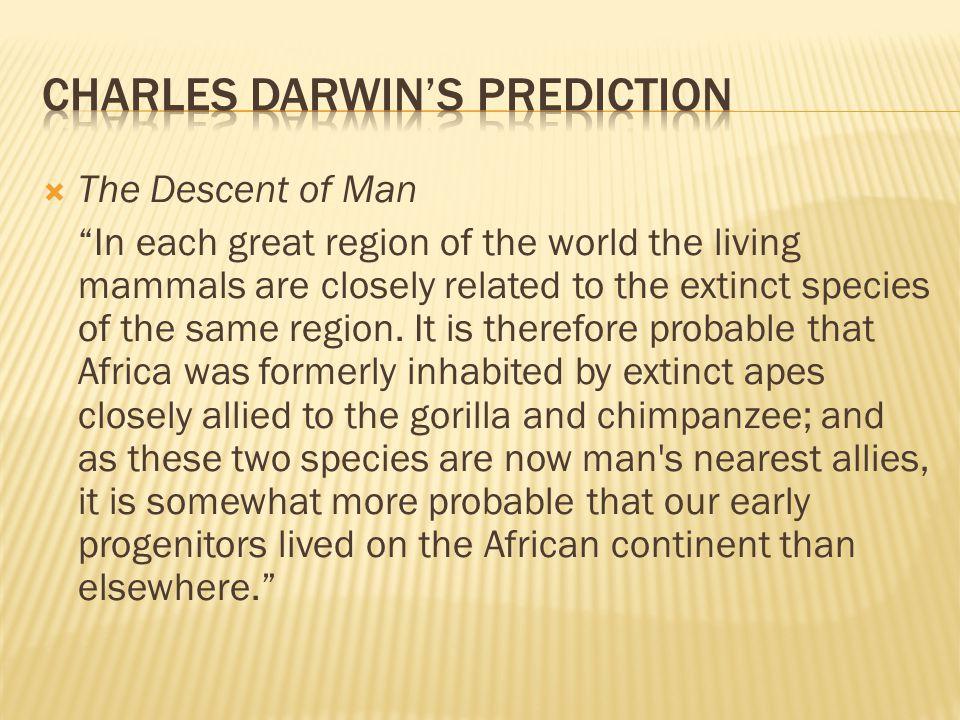 the descent of man darwin summary