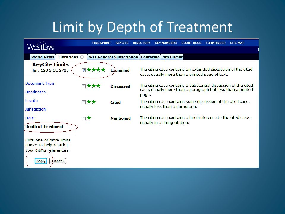 Limit by Depth of Treatment