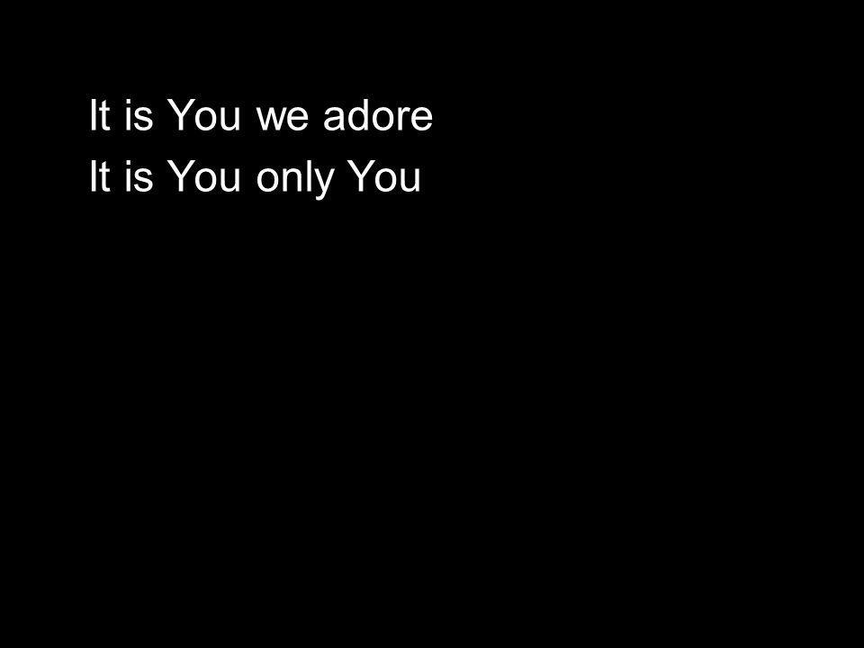 It is You we adore It is You only You