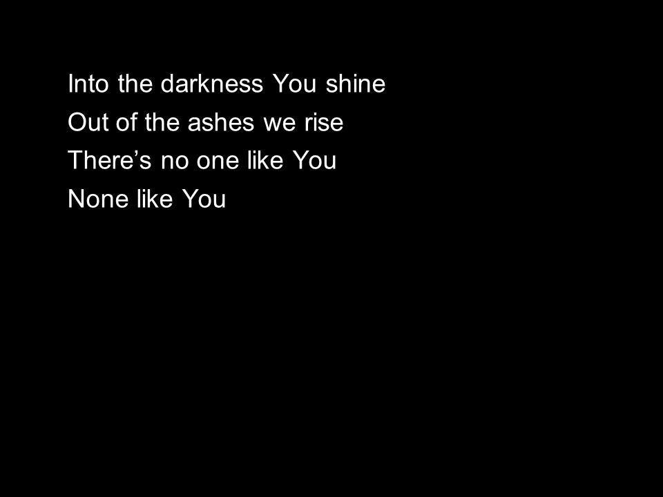Into the darkness You shine Out of the ashes we rise There's no one like You None like You