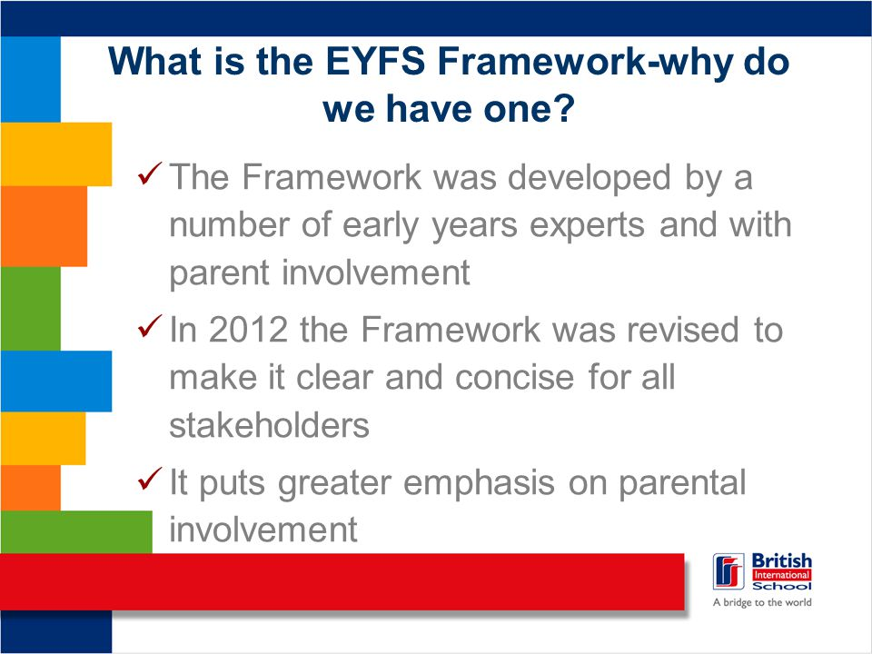 What is the EYFS Framework-why do we have one.