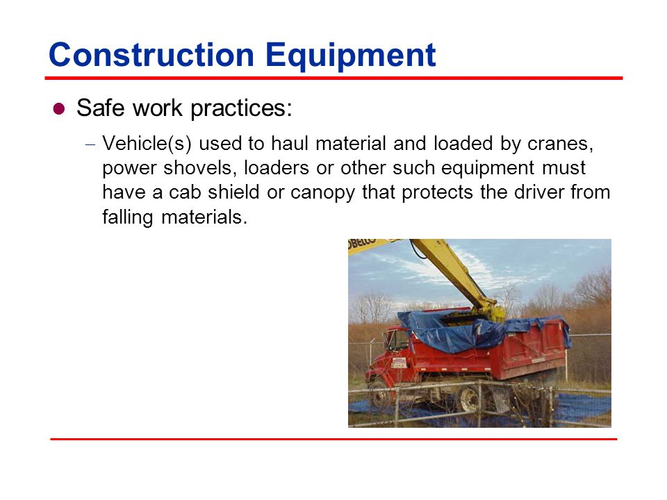 Construction Equipment Safety issues »Overhead hazards »Low visibility