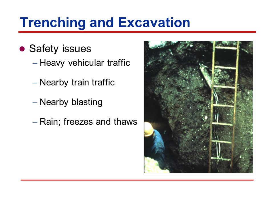 Trenching and excavation Construction equipment Tools and equipment Materials handling, storage, use, and disposal Rigging Motor vehicles
