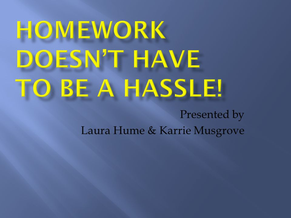 Presented by Laura Hume & Karrie Musgrove