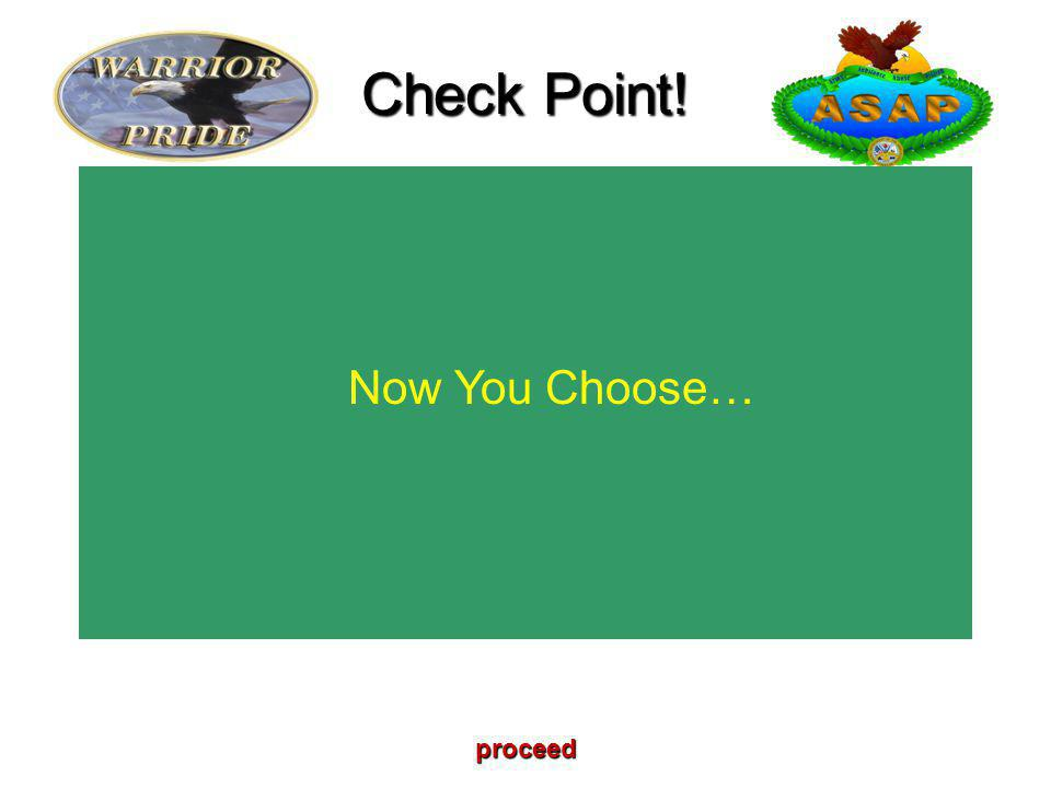 Now You Choose… Check Point! proceed