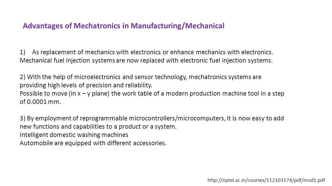 Mechatronics and Control (MBME06006) MBA Tech (Mechanical