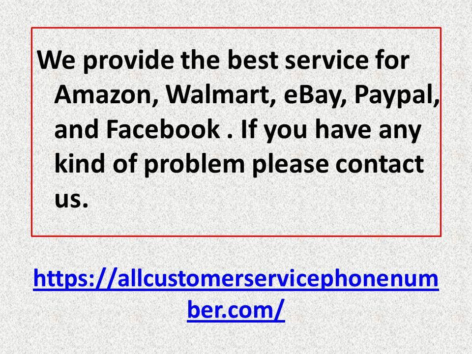 All Customer Service Phone Number All Customer Care Number Ppt Download