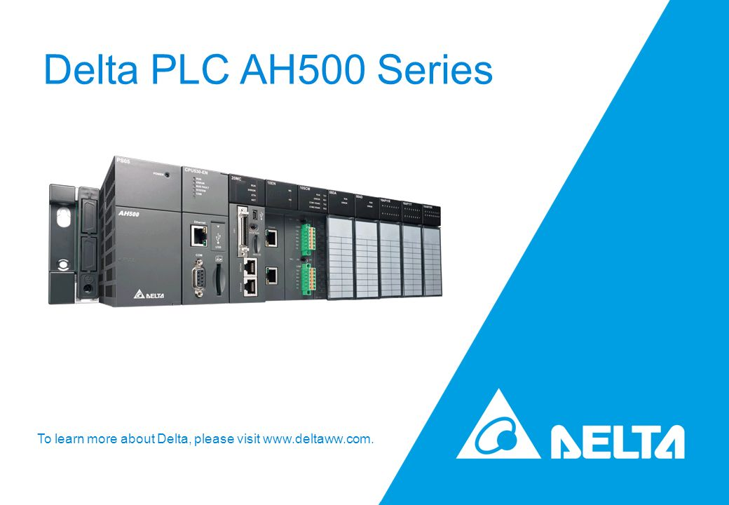 Delta PLC AH500 Series for High-End Automation System