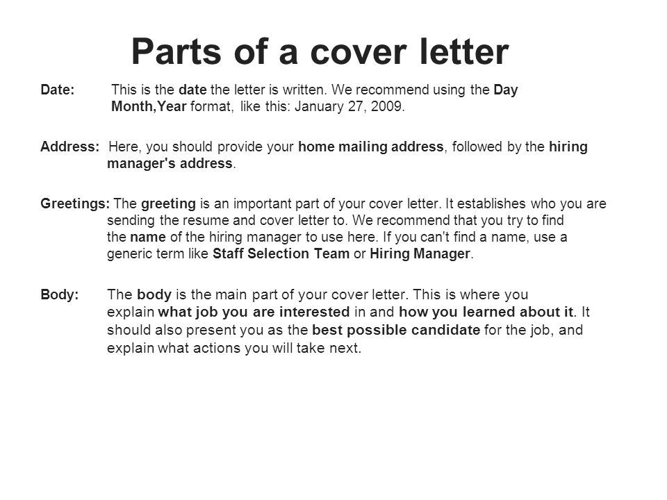 Greeting On Cover Letter from images.slideplayer.com